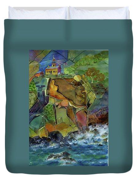 Old Point Loma Lighthouse Duvet Cover