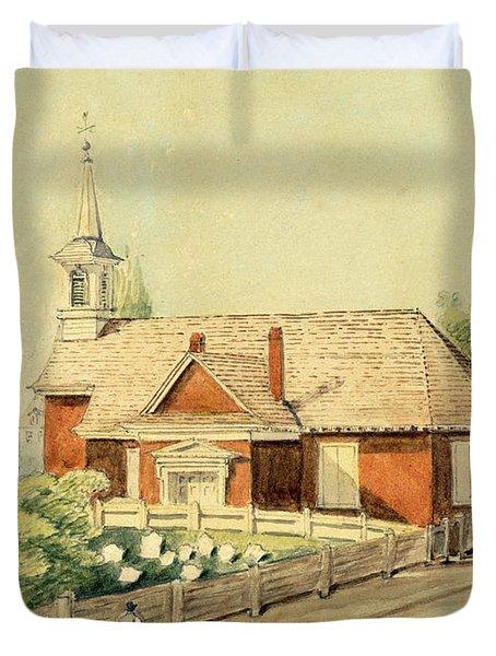 Old Swedes' Church, Southwark, Philadelphia Duvet Cover