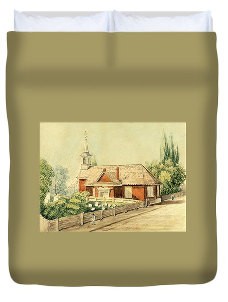 Old Swedes' Church, Southwark, Philadelphia Duvet Cover