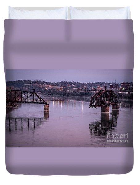 Old Swing Bridge Duvet Cover