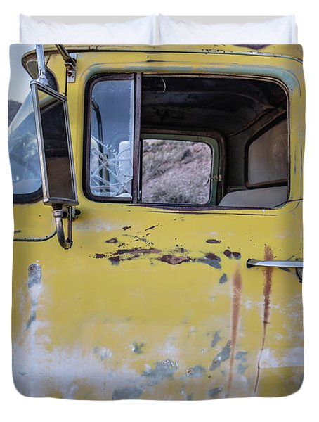 Old Vintage Dump Truck Duvet Cover