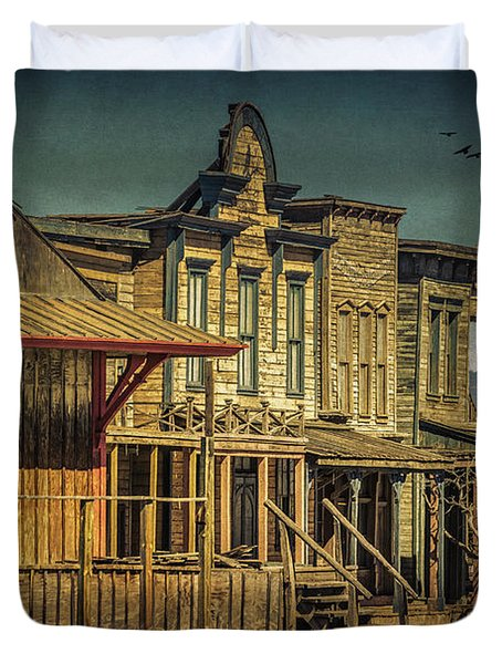 Old Western Town Duvet Cover