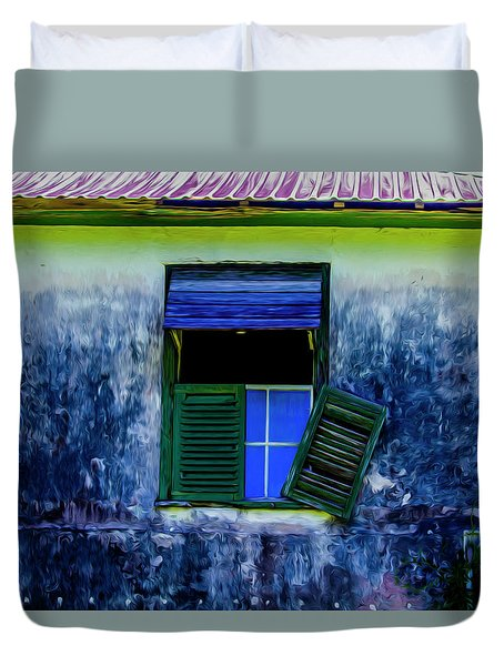 Old Window 3 Duvet Cover