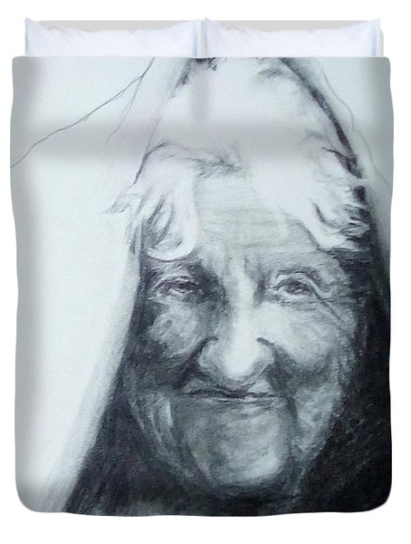 Old Woman Duvet Cover