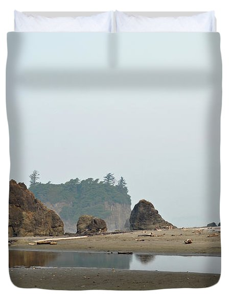 Olympic National Park Seastacks Duvet Cover