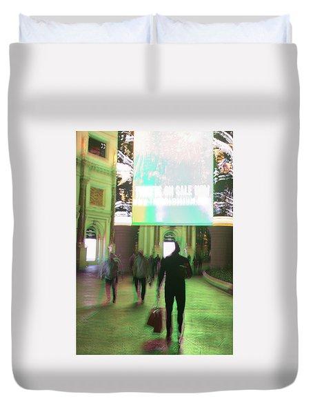 Duvet Cover featuring the photograph On Sale by Alex Lapidus