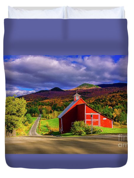 On The Backroads Of Stowe. Duvet Cover