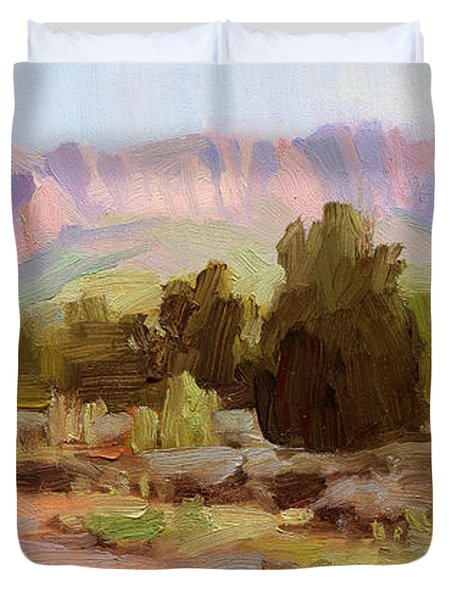 On The Chinle Trail Duvet Cover