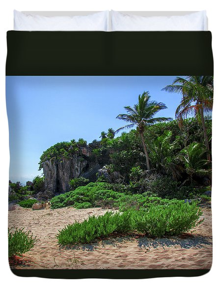 On The Coast Of Tulum Duvet Cover