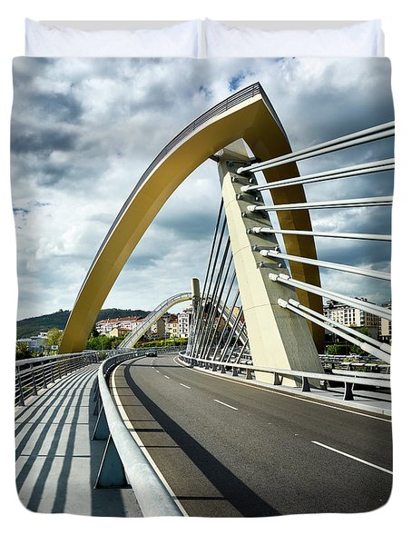 Millennium Bridge In Ourense, Spain Duvet Cover