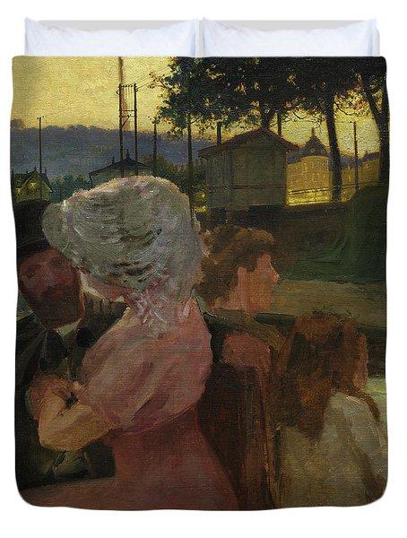 On The River, 1900 Duvet Cover