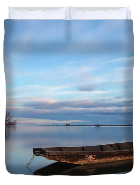 On The Shore Of The Lake Duvet Cover