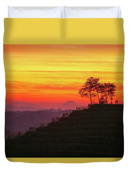 On The Viewpoint Duvet Cover