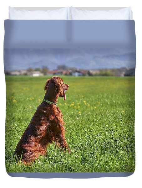 On The Watch Duvet Cover