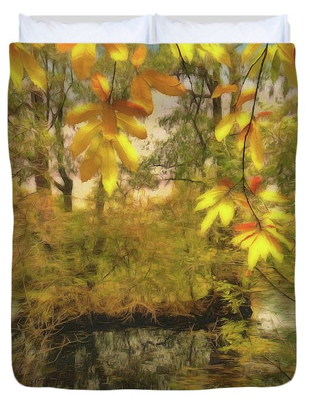 Once A Pond A Time Duvet Cover