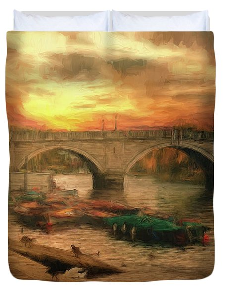 Once More To The Bridge Dear Friends Duvet Cover