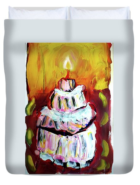 One Candle Duvet Cover