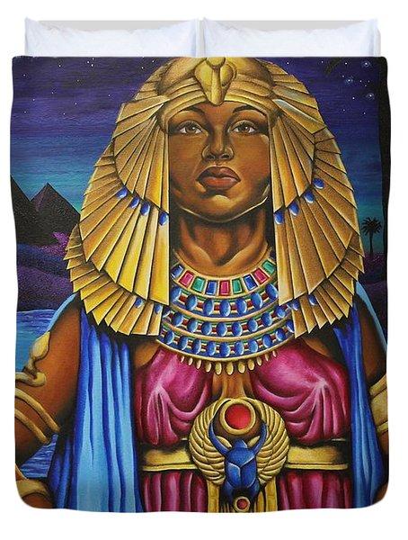One Night Over Egypt Duvet Cover