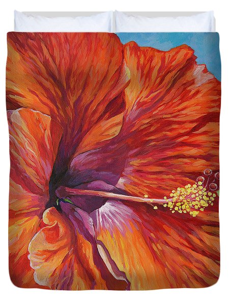 One Of The Favourite Flowers Of Tropical Islands - The Hibiscus. Duvet Cover