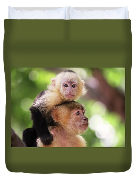 One Of Those Days When You Just Can't Seem To Get The Monkey Off Your Back Duvet Cover