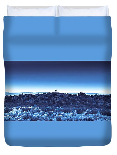 One Tree Hill -blue -2 Duvet Cover