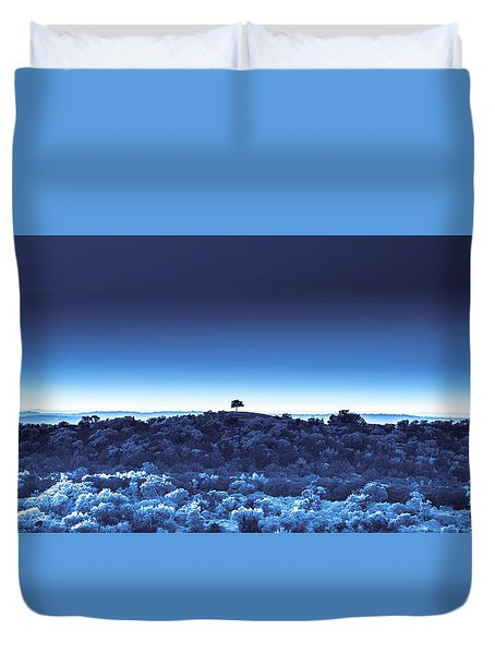 One Tree Hill - Blue 4 Duvet Cover