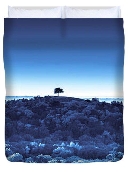 One Tree Hill - Blue Duvet Cover