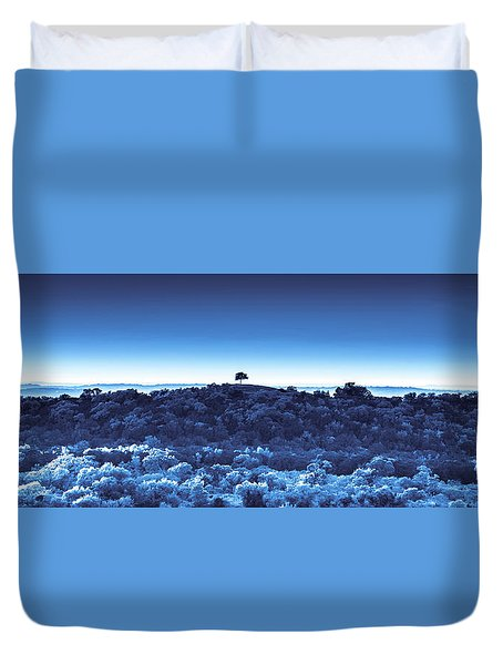 One Tree Hill - Blue Duvet Cover