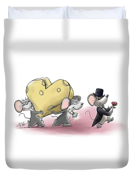 Only The Best Cheese Will Do Duvet Cover