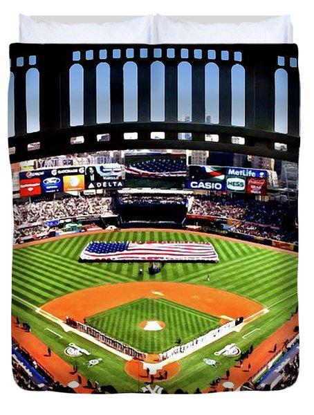 Opening Day Yankee Stadium Duvet Cover