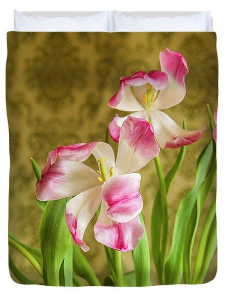 Opening Tulips Duvet Cover