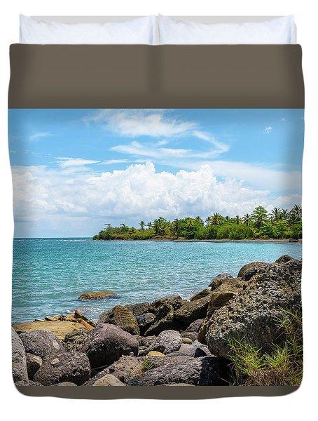 Orange Bay In Portland Jamaica Duvet Cover
