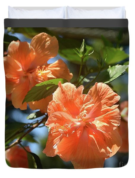 Orange Beauty - Hibiscus Duvet Cover
