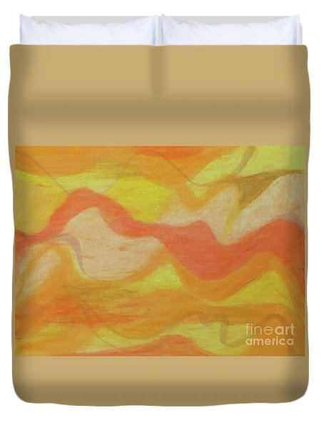 Orange Colors 1 Duvet Cover
