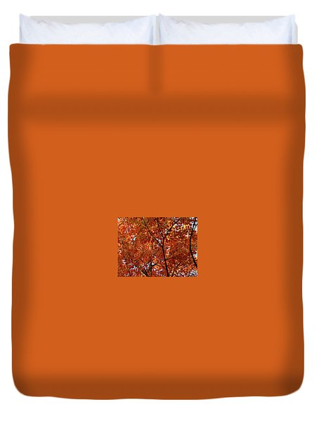 Orange Everywhere Duvet Cover