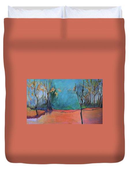 Orange Lake Duvet Cover