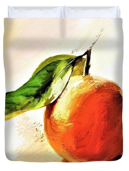Orange Reflections Duvet Cover