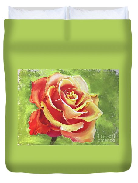 Orange Rose Duvet Cover
