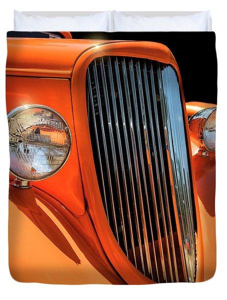 Orange Vision II Duvet Cover