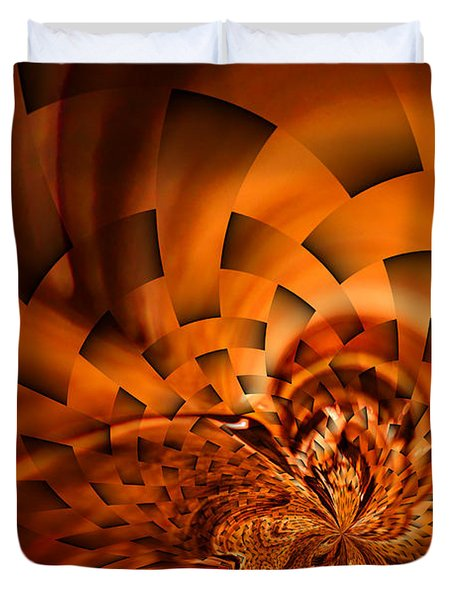 Orange Weave Duvet Cover