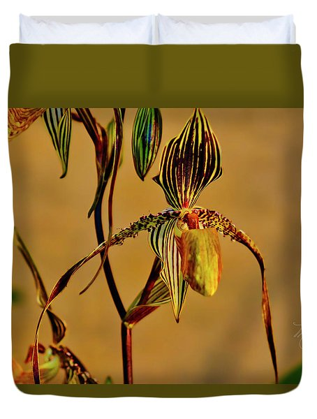 Orchid Study Eight Duvet Cover