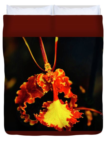 Orchid Study Four Duvet Cover