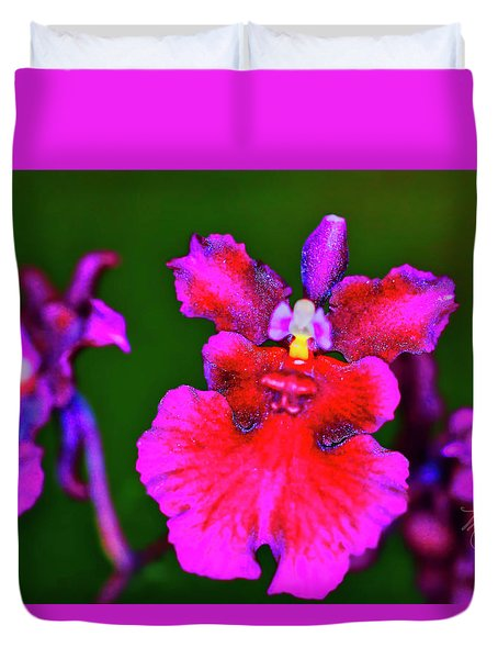 Orchid Study Three Duvet Cover
