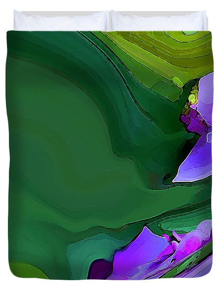 Orchids And Emeralds Duvet Cover