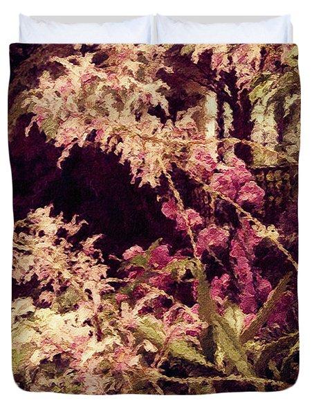Orchids In The Atrium Duvet Cover