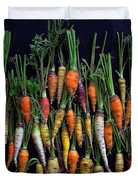 Organic Rainbow Carrots Duvet Cover
