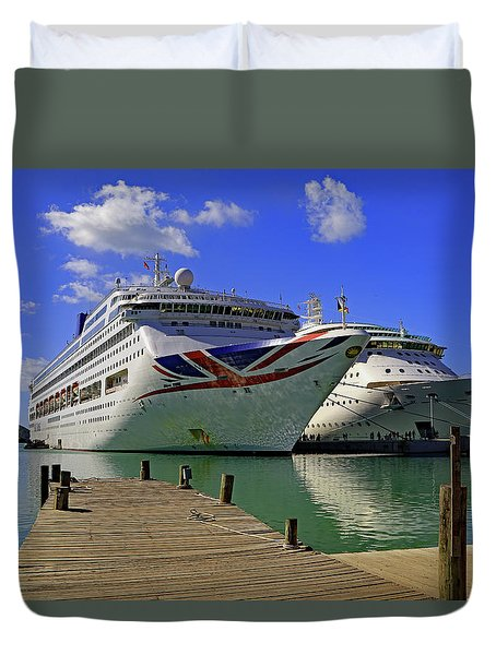 Duvet Cover featuring the photograph Oriana Antigua by Tony Murtagh
