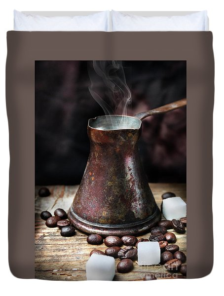 Oriental Coffee Pot Duvet Cover