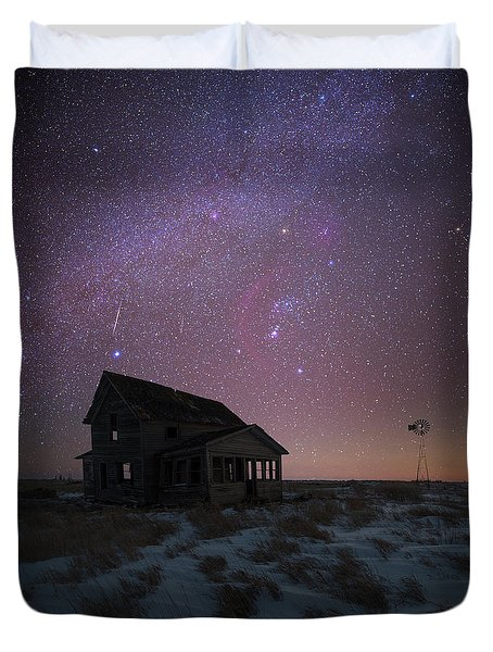 Duvet Cover featuring the photograph Orion  by Aaron J Groen