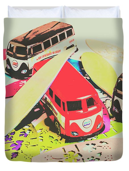 Ornamenting Hawaii Duvet Cover